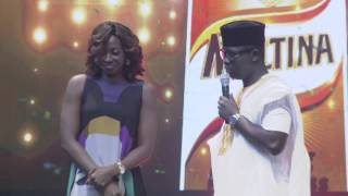 Seyi Law Kisses Kate Henshaw On Stage Ay Live 2016