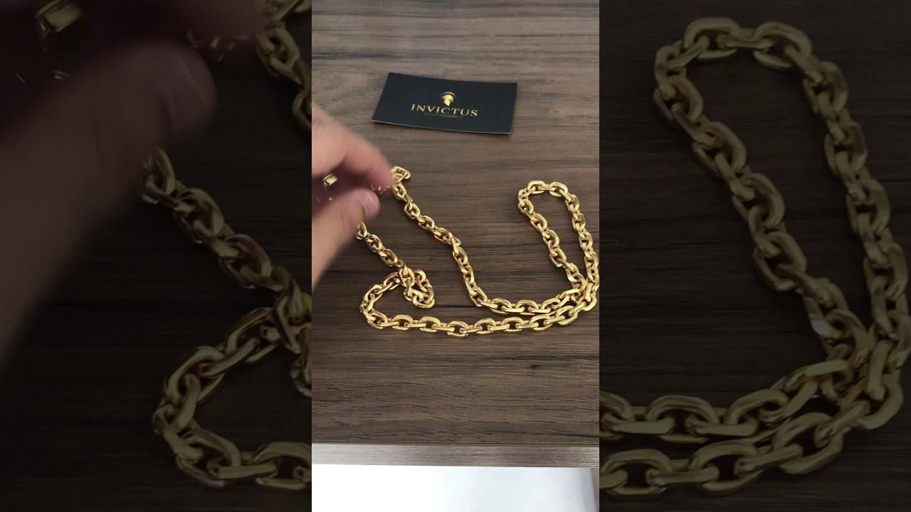 ffa0aafc5ec Corrente Cadeado cartier 7mm 70cm banhada a ouro. - YouTube