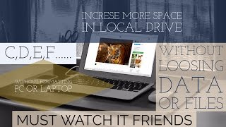 How to Add external space in pc drives  within few minutes 💻Latest 2017