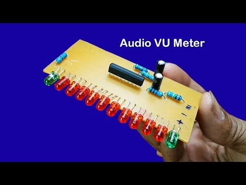 How to make 12 Dot LED Audio Level Meter driver circuit using IC AN6884