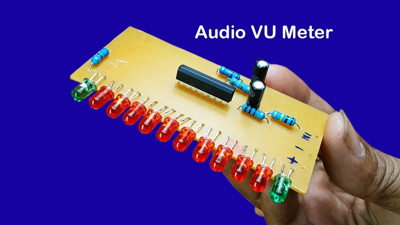 How To Make 12 Dot Led Audio Level Meter Driver Circuit Using Ic Build Vu 1 Diagram An6884