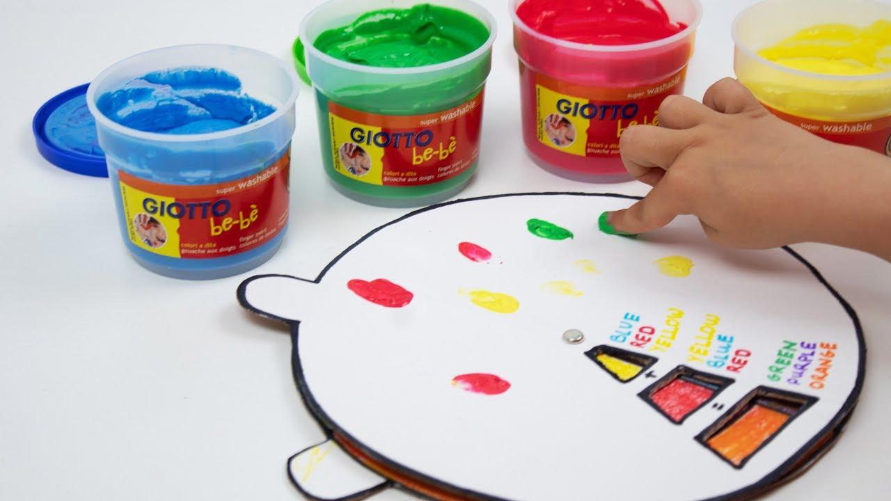 Manualidad Para Niños De 2 A 3 Años Aprender Los Colores Youtube