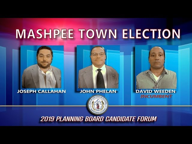Candidates Forum  Planning Board 2019