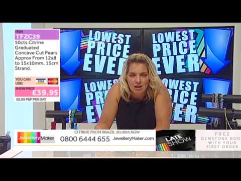 Aquamarine and Amethyst Nuggets on The Late Show (JewelleryMaker) LIVE 01/07/2015