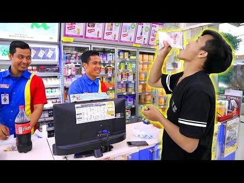 DEBUS ! MAKAN MICIN DI DEPAN ORANG - MAKAN MICIN DAPET 50 RIBU ( Rp. 50.000 )