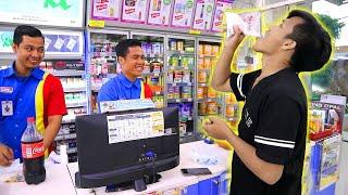 DEBUS ! MAKAN MICIN DI DEPAN ORANG - MAKAN MICIN DAPET 50 RIBU ( Rp. 50.000 ) thumbnail