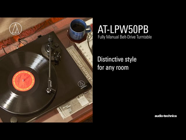 AT-LPW50PB Overview | Fully Manual Belt-Drive Turntable