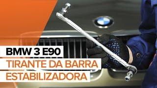 Como substituir a tirante da barra estabilizadora dianteira no BMW 3 E90 TUTORIAL | AUTODOC