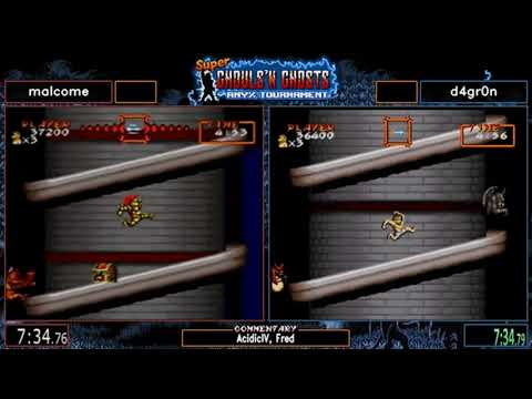 Super Ghouls'n Ghosts Speedrun Any% Tournament 2019 Final Tournament d4gr0n vs malcome 20190728