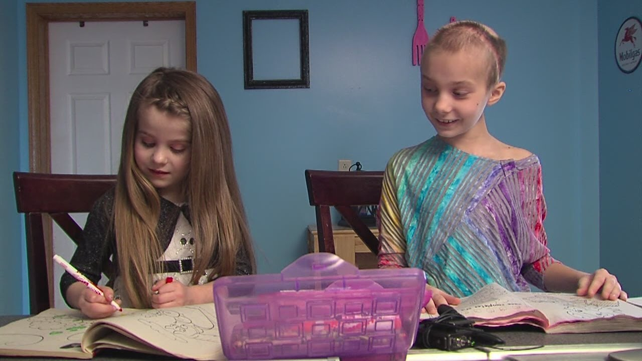 5 yr  old donate hair to help friend
