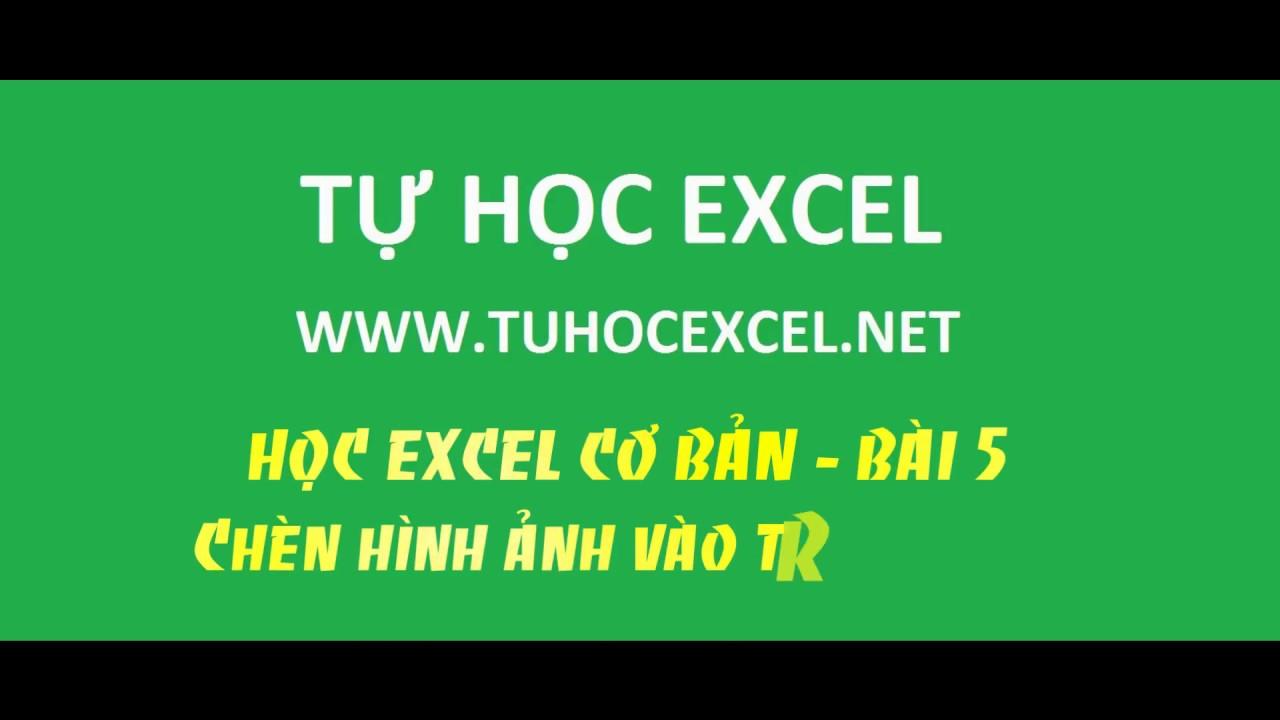 Học Excel Cơ Bản - 05 - Chèn Hình Ảnh Vào Trong Bảng Tính Trong Excel