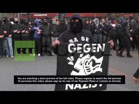 Germany: Hooligans and anti-fascist protesters square off in Hannover