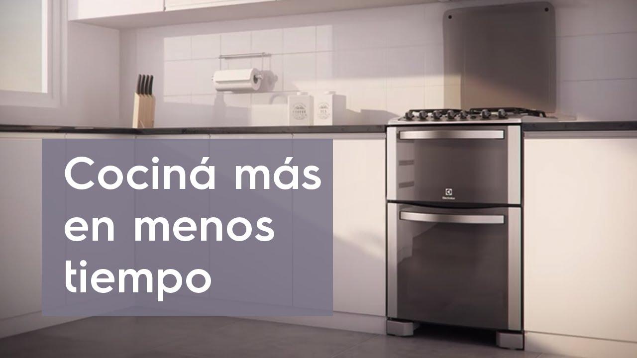Cocina doble horno 56dtx youtube for Marcas de cocinas