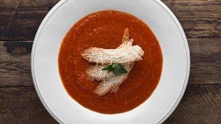Крем Суп из Печеных Помидор с Теплым Кусочком Хлеба и Пекорино || FOOD TV Простой и Быстрый Рецепт