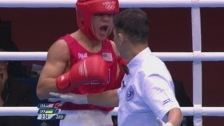 Diaz (USA) v Ishchenko (UKR) - Boxing Bantam 56kg Round of 32 - London 2012 Olympics