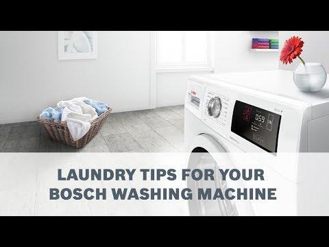 Mẹo giặt máy giặt của Bosch
