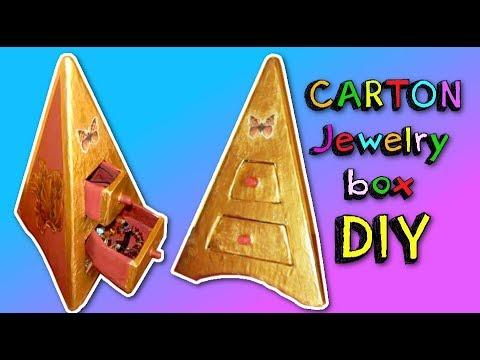 DIY carton Jewelry ORGANIZER pyramid shape