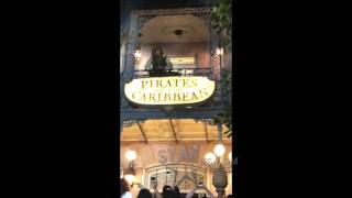 Johnny Depp surprises fans in New Orleans Square as Captain Jack Sparrow at Disneyland.