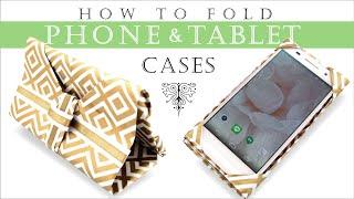 [折るだけ簡単] スマホケース& タブレットケースの作り方  iPhone case & Tablet Case DIY [Origami]