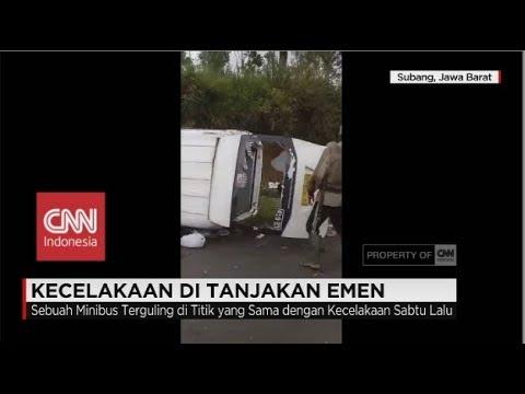 Lagi! Kecelakaan di Tanjakan Emen, Minibus Terguling