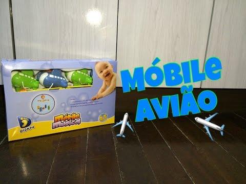 Móbile Musical Aviãozinho - Dican - Top's Virtual