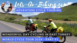 Part 91 - Wonderful day in the east Turkish mountains - World cycle tour - 2018