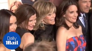 Jane Fonda & Tina Fey discuss working with each other - Daily Mail