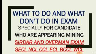 How to prepare for MINING SIRDAR   OVERMAN   EXAM How to crack mining sirdar overman EXAM