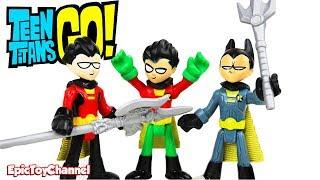 TEEN TITANS GO! Team Robin Multi-Personality Robin + Robin as Batman by Imaginext of Teen Titans Go