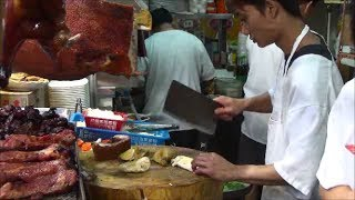 Hong Kong Street Food. Action in the Kitchen of a Chinese Restaurant.