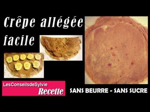 Ep 49 - Recette - Crêpe allégée saine et facile sans beurre, sucre [Rééquilibrage - Régime]