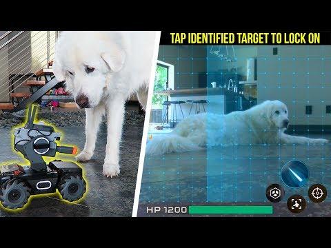 Dog vs DJI 'RoboMaster' Intelligent Robot