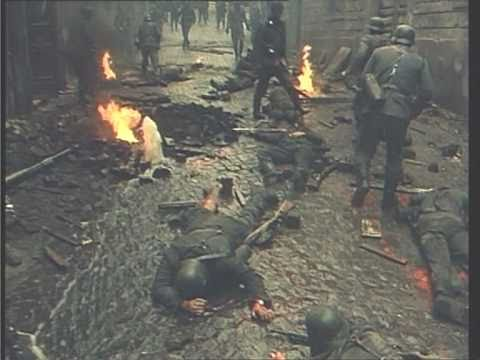 German patrol marching and killed by Italian underground