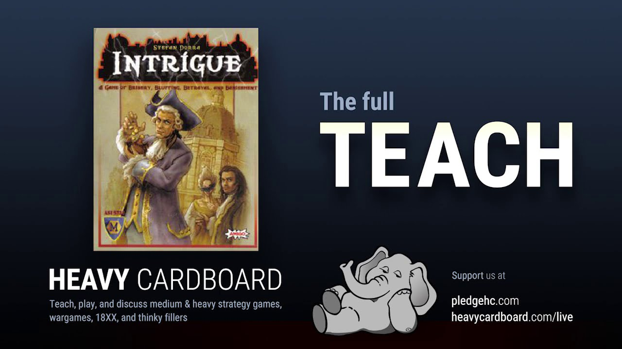 How to Play only - Intrigue How to Play by Heavy Cardboard