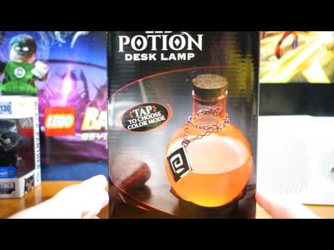 Thinkgeek com led potion desk lamp unboxing