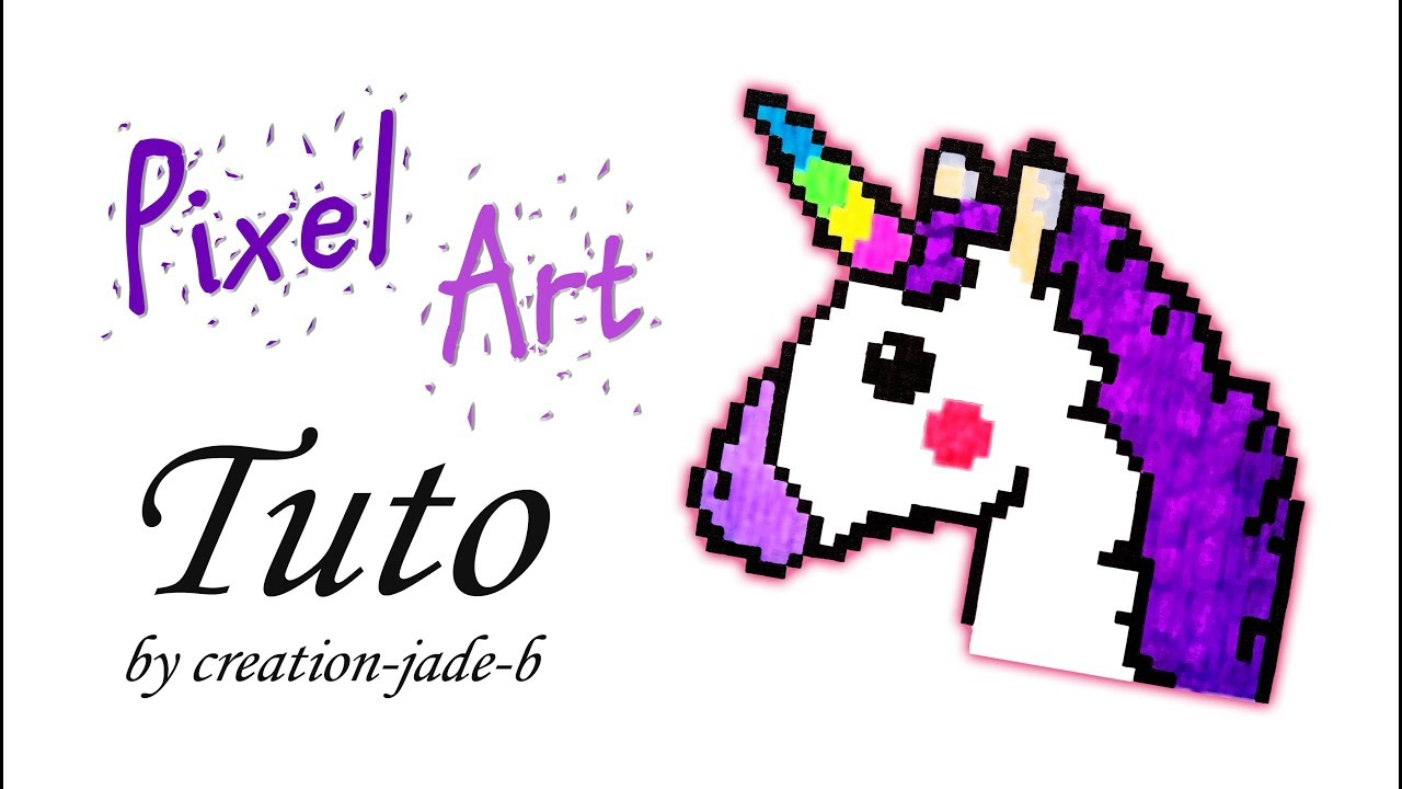 Tuto Pixel Art Tête De Licorneunicorn H37 X L44