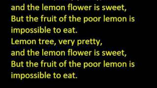 Peter, Paul, Mary - Lemon Tree (with lyrics)