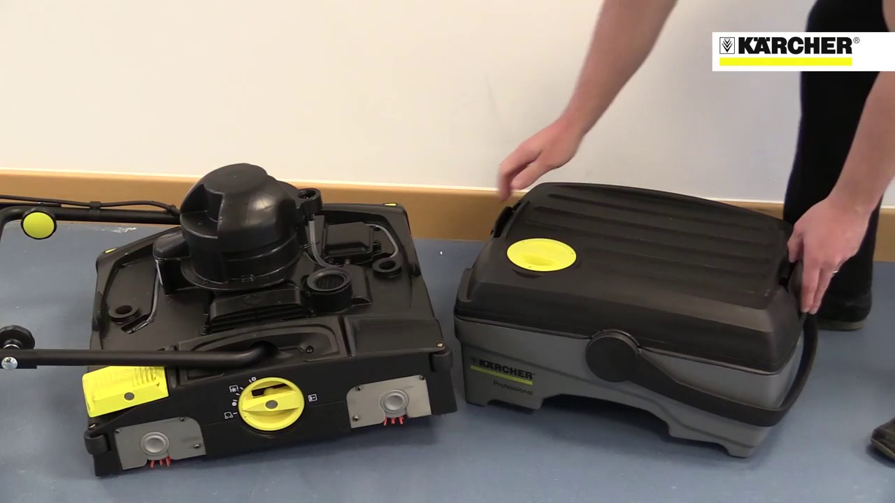 fregadora karcher br 40 10 c - youtube