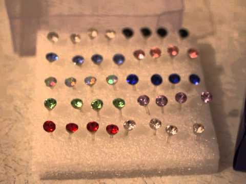 buyincoins 20 Pairs Pretty Crystal Rhinestone Round Earrings Ear Studs Allergy Free Pin