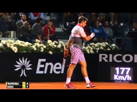 R. Nadal vs S. Wawrinka | 2015 Rome Masters | QF, Highlights