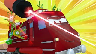 Train for kids -  Troy the Train is a Super Train and Saves Train Town  - Troy The Train in Car City