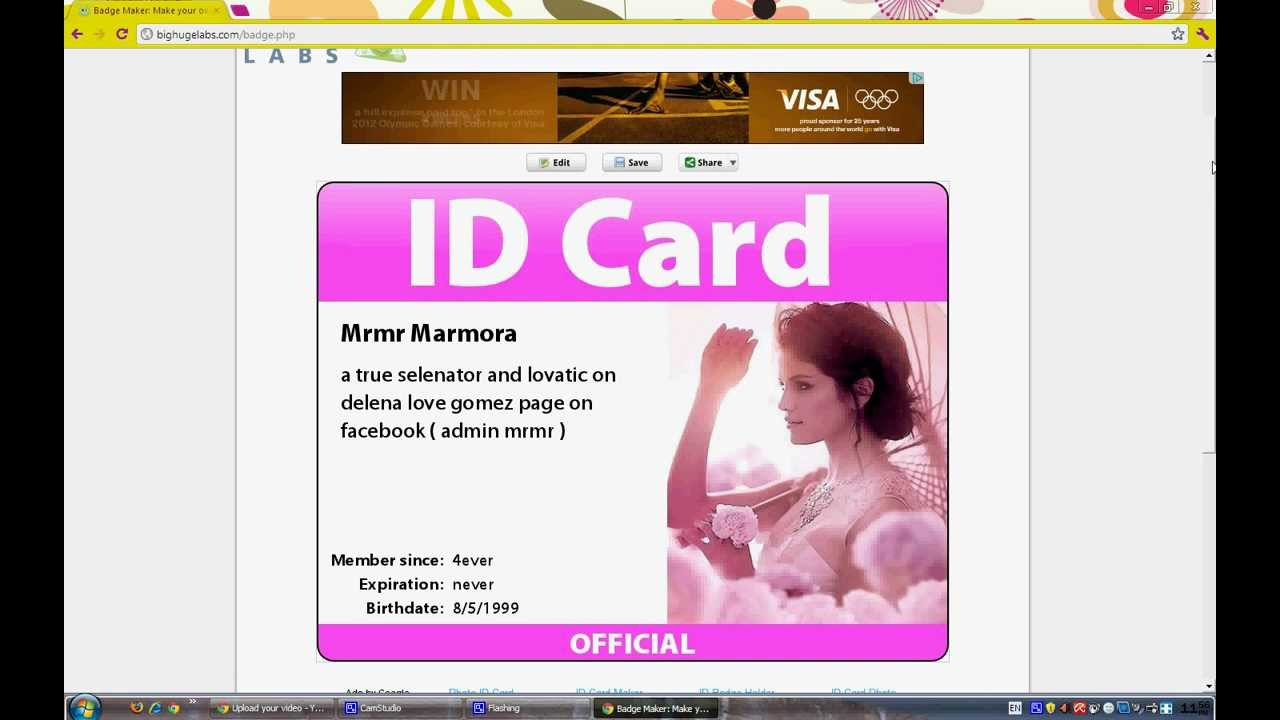 how to make id cards tutorial - How To Make Id Card