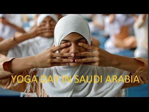INTERNATIONAL YOGA DAY IN SAUDI ARABIA  - yoga in saudi - yoga in Arabic