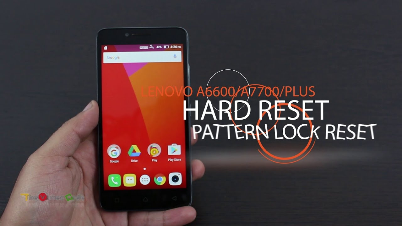 [How To] Lenovo A6600 Hard Reset | Pattern Lock Reset | A6600 Plus | A7700