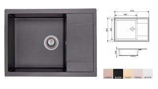 Кухонная мойка Granado Linares Black Shine - обзор и распаковка (www.santehimport.com)