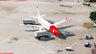 [PREPAR3D] Flight Boeing 737-800 Norwegian LGSM (Samos) - EPKT (Katowice)