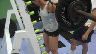 Lindsay Squat 3x5 165 pounds (75 kg) - Workset # 1