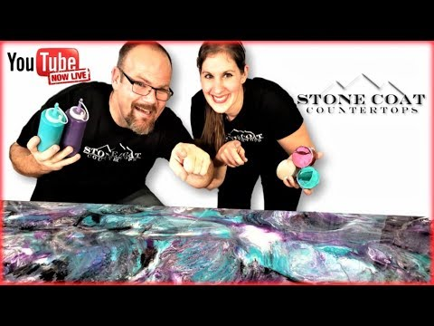 How to Purple and Teal Epoxy