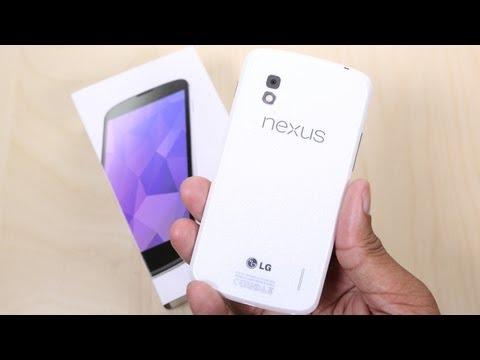 White Google Nexus 4 Unboxing