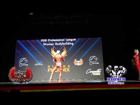 Posing Routines Women's Bodybuilding   Rising Phoenix World Championships